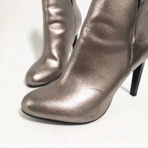 Zara Shoes - Zara. Stiletto heeled booties. Light brassl